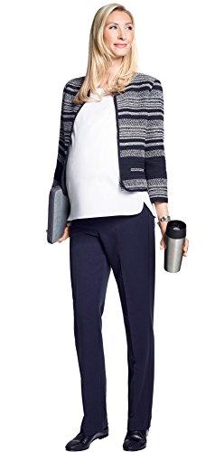 Christoff Pantalon Dora vêtements de maternité Pantalon Femmes 53/33/9 Coupe Droite (Jambe Droite) avec Confort Taille haute marine (navy)