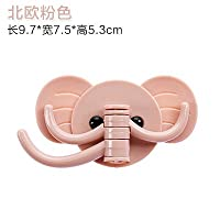 WEIAIXX Creative Cute Elephant Wall Adhesive Hook Kitchen Bathroom Door Hooks That Secure The Free Use Of Strong Non-Marking Pink Coat Hooks