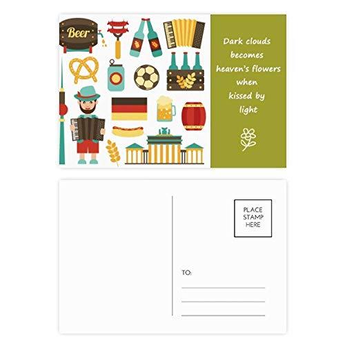 DIYthinker Fußball Bierwurst Brasilien Kultur-Poesie Postkarten-Set Dankeskarte Mailing Seite 20...