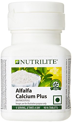 Nutrilite Alfalfa Calcium Plus 90 N Tablets (Combination Of Calcium,...