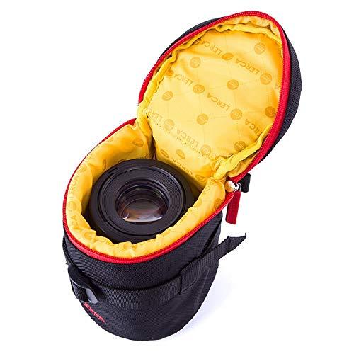 Huntvp Objektivtasche Neopren Kamera Objektiv Schutztasche Objektivköcher Wasserdicht Gepolstert ObjektivbeutelDSLR Kamera Schutzhülle Stoßfest Kordelzug Kameratasche - Schwarz 4