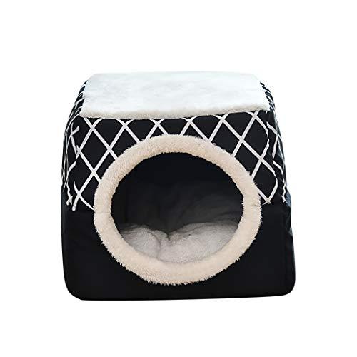 Kolylong® Hundebett Katzenbett Hundehöhle Hundehütte Tragbar Faltbare Hund Zimmer Katzenhöhlen Haustier Haus und Sofa Geometrisch Hundedecke Haustierbett Zwingermatten