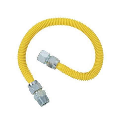 BrassCraft CSSC15-18 Gas Connector 18 3/4 Mip X 1/2 Fip by BrassCraft -