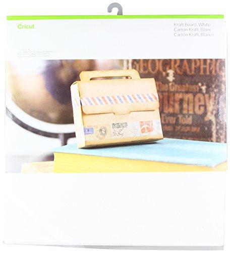 Unbekannt Cricut Paper & Cardstock Muster, 30,5 x 30,5 cm, schimmerndes Papier - klassisch, weiß, 12