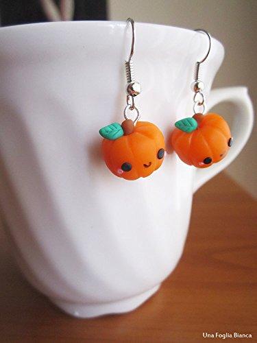 Ohrringe kürbis halloween cernit fimo cute kawaii handmade polymer clay