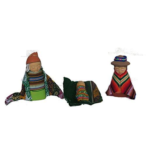 Discount ethnique – Crèche terre cuite avec Manta Set H.9 cm