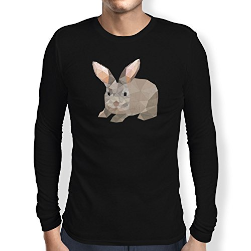 TEXLAB - Poly Bunny - Herren Langarm T-Shirt Schwarz