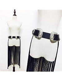 Cintura creativa ajustable para mujer Cinturón de arnés del cuerpo  ajustable de piel sintética para mujer 810fda483591
