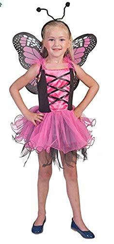 Pierro´s Kostüm Schmetterlingskind pink Märchen Mädchenkostüm Größe 104