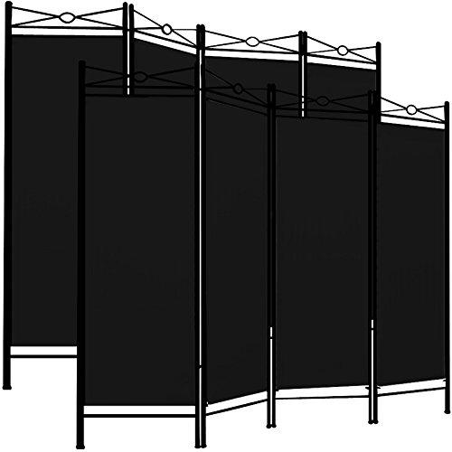 Preisvergleich Produktbild Deuba 2X Paravent Lucca 180x163cm / 4 Trennwände flexibel verstellbar / Raumteiler Sichtschutz / platzsparend & multifunktional / schwarz