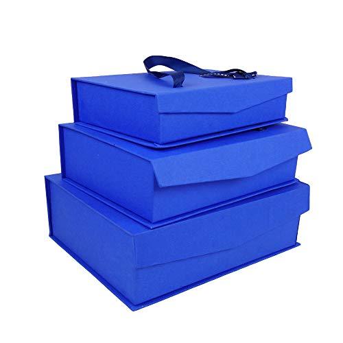 Emartbuy Set von 3 Starrer Luxus Rechteck Präsentation Geschenkbox