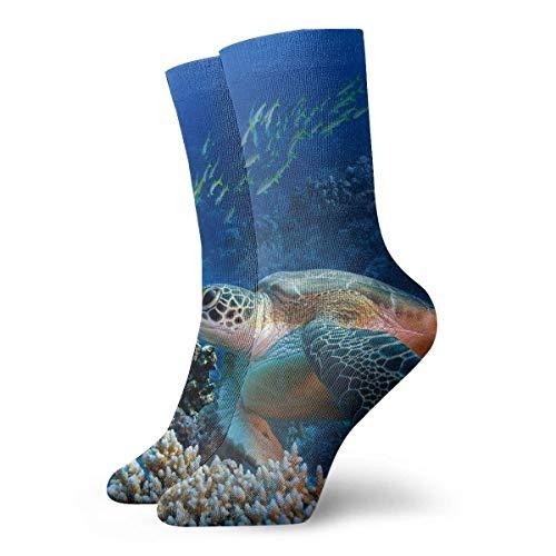 Kostüm Für Verkauf Elite - VTYOSQ Socks Breathable Giant Sea Turtles Crew Sock Exotic Modern Women & Men Printed Sport Athletic Socks 30 cm (11.8 inch)