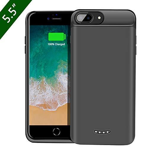 Beefix Akku Hülle für iPhone 8Plus/7Plus/6S Plus/6 Plus, 7500mAh Wiederaufladbare Verlängerungsladegerät Portable Battery Pack Backup Energien Bankabdeckung (Case Charger Iphone Portable)