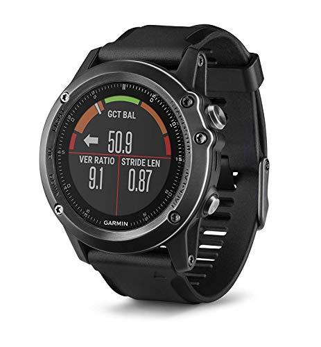 Garmin fēnix 3 HR Saphir GPS-Multisportuhr, Herzfrequenzmessung am Handgelenk, zahlreiche Sport- und Navigationsfunktionen, 010-01338-71