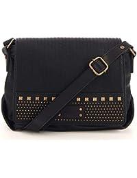 8ff8490cba Fuchsia - Petit sac bandoulière à rabat ethnique avec clous simili cuir  femme (f9820-