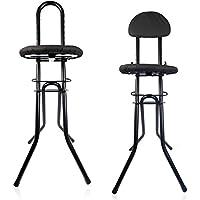 HSM Bügelstuhl mit Rückenlehne höhenverstellbar Stehstuhl Bügelhilfe Stehsitz Sitzhilfe Stehhilfe Standhilfe Multisitz