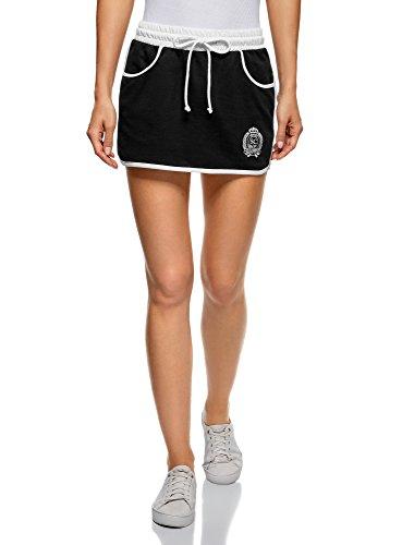 Outfit Sexy Golf (oodji Ultra Damen Jersey-Rock im Sport-Stil, Schwarz, DE 32 / EU 34 /)