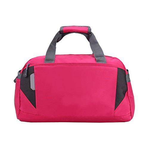 LAIDAYE Großvolumige Tragbare Gepäcktaschen Sporttasche Fitnesstasche Große Kapazität Handtasche Pink