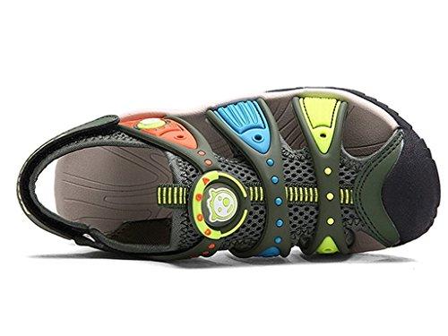 Eagsouni Garçon Filles extérieur marche randonnée sport trail sandales été chaussures Vert
