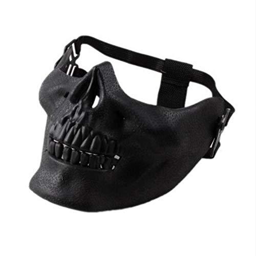 Shuangklei Scary Skull Skeleton Maske Halloween Kostüm Halbe Gesichtsmasken Für Party (Kostümen Diy Halloween-scary)