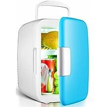 4L coche frigorífico coche casa doble-uso pequeño refrigerador mini-refrigeración pequeño hogar dormitorio frigorífico congelador,Azul,4L