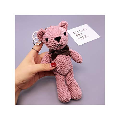 Vvciic - Llavero con diseño de oso de peluche rosa