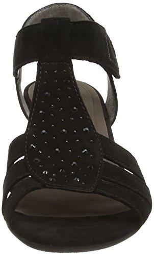 Gabor Gabor, Chaussures femme Sandales en T Noir