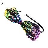 FeiyanfyQ‿Bandeau de cheveux réversible à paillettes pour filles Multicolore