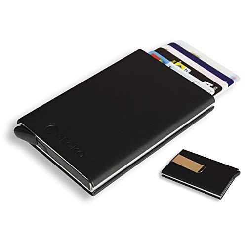 c81ec2155f GECKO Porta Carte di Credito RFID Pop-UP Struttura in Alluminio |  Portafoglio Uomo Piccolo