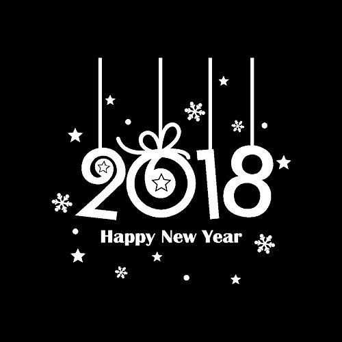 OIKAY Wandaufkleber 2018 Frohes Neues Jahr Frohe Weihnachten Wandaufkleber Home Schaufenster Decals Decor hausgarten küche zubehör dekorative aufkleber wandbilder
