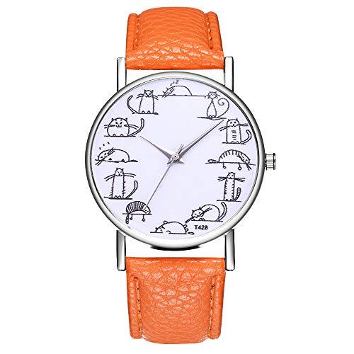 Orange G-string (DOLDOA Rucksack Kinder Damen-Temperament-Wilde Marken-Uhren Arbeiten beiläufiges einfaches um (Orange))