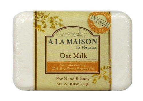 A La Maison Pain de savon ultra-hydratant Oat Milk - Au lait d'avoine, à l'huile d'argan et au beurre de karité - 250 g