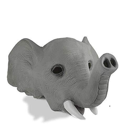 HWHMJ Máscaras para Adultos Máscara de Halloween Suministros Capucha máscara de Elefante máscara de Estilo asiático Animal Divertido