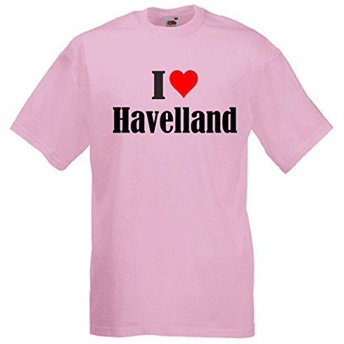 """T-Shirt """"I Love Havelland"""" für Damen Herren und Kinder ... in der Farben Schwarz Weiss und Pink Rosa Pink"""