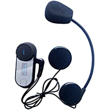 Auriculares Intercomunicador Bluetooth para casco de motocicleta Moto Intercom Headset FreedConn T-COMSC 800m intercomunicador del casco de auriculares FM altavoz Hi-Fi Sintonizador 3 Los jinetes con pantalla LCD(1 unidad con auriculares duros)