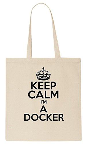 Keep Calm I'M A DOCKER Tote Bag