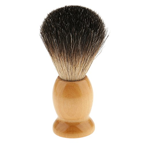 Segolike Natural Wood Handle Soft Bristle Shaving Brush for Men Salon Hairdressing Hair Beard Cutting Dust Cleansing Tool