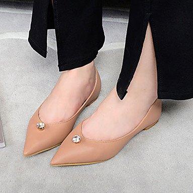Confortevole ed elegante piatto scarpe donna Appartamenti primavera altri abito pu tacco piatto strass black nudo nude