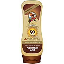 Australian Gold Lotion Sunscreen Broad Spectrum SPF 50 with Instant Bronzer 237ml