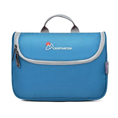 Mountaintop Kulturbeutel Kosmetiktasche Kulturtasche zum Aufhängen Toiletry Bag Waschtasche für Reise Urlaub, 23.5 x 6 x 17 cm