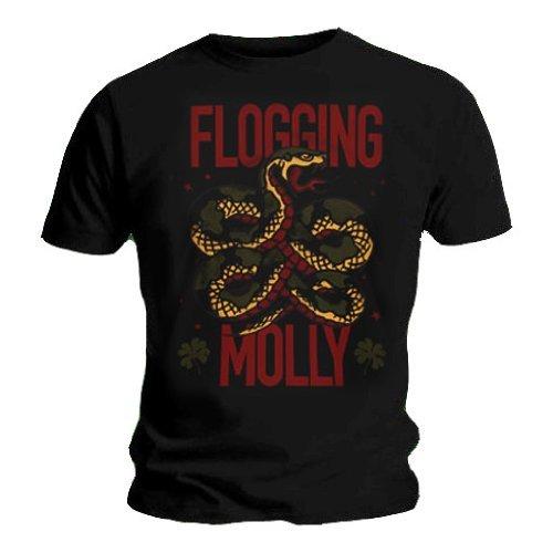 FLOGGING MOLLY-Maglietta ufficiale irlandese, con Logo Vintage a tutte le misure nero XX-Large