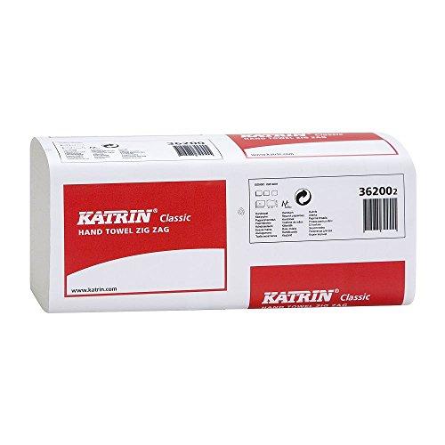 Katrin 362002Basic Qualität Interleaved Zig Zag Handtücher, 1-lagig, weiß (4000Stück)