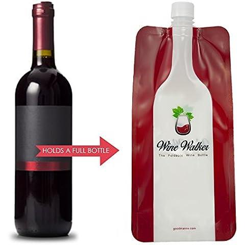 Plegable botella de vino