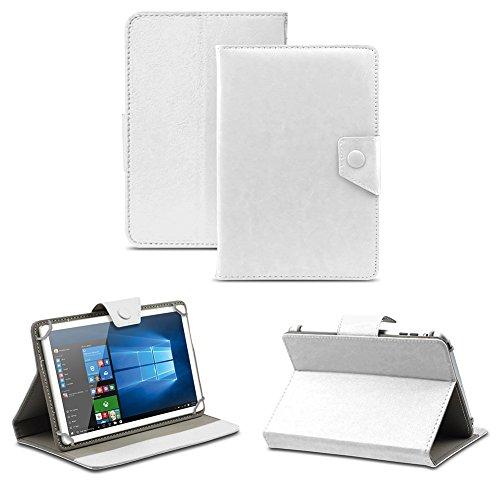 NAUC Universal Tasche Schutz Hülle Tablet Schutzhülle Tab Case Cover Bag Etui 10 Zoll, Farben:Weiss mit Magnetverschluss, Tablet Modell für:Allview Wi10N Pro 10.1