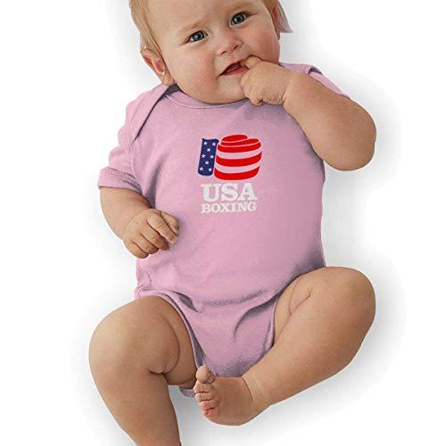 Bodys & Einteiler,Babybekleidung, Baby one-Piece Suit,Baby Jumper,Pajamas, Baby Boy Bodysuits, Andrea Sotaski USA Boxing Logo Unisex Newborn Infant Bodysuit Baby Clothes Usa Infant Bodysuit