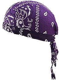 AchidistviQ cotone uomo donna pirati da ciclismo bici fascia cappello  bandana Headcloth Purple fe2605153878