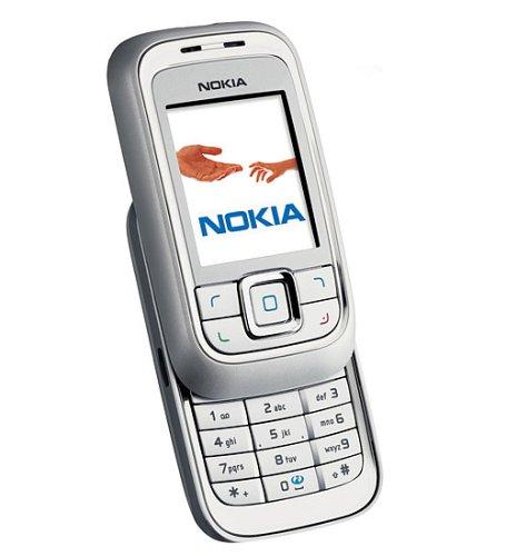 Nokia 6111 Silver Grey Handy Slider-mp3-video-player