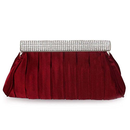 Strawberryer Sac De Dîner En Dentelle Sacs En Soie De Haute Qualité Décoration Vestimentaire Décoration KTV Embrayage Redwine