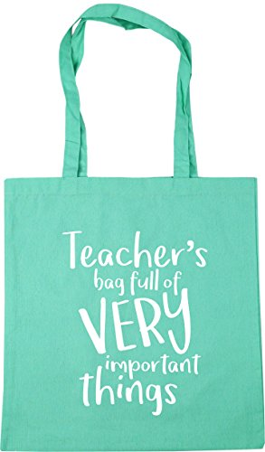 HippoWarehouse Teacher's Bag Full of Very Important Things Tote Shopping Gym Beach Bag 42cm x38cm, 10 litres