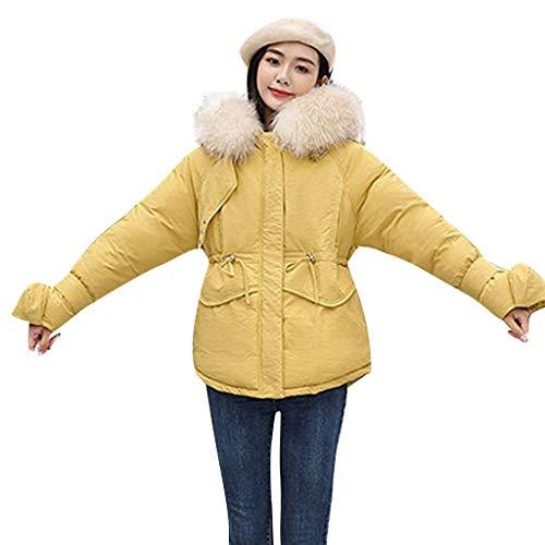 Amphia - Damen Winterjacke Wintermantel,Damen Oberbekleidung Langarm Kapuzenjacken Baumwolle gepolsterte Taschen Mäntel